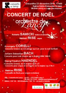 Concert de Noël : Compositeurs baroques @ Eglise Notre-Dame des Grâces | Lancy | Genève | Suisse