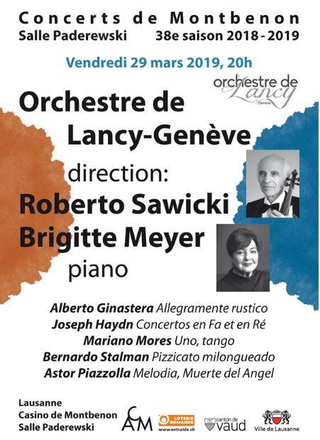 Concert : Haydn et compositeurs argentins @ Casino de Montbenon, Salle Paderewski | Lausanne | Vaud | Suisse