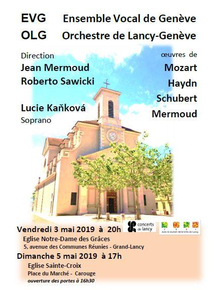 Concert Ensemble Vocal de Genève et l'Orchestre de Lancy-Genève